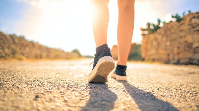woman walking to help boost immune system